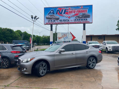 2012 Infiniti M37 for sale at ANF AUTO FINANCE in Houston TX