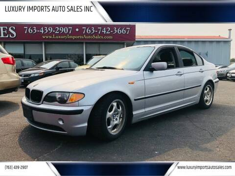 2002 BMW 3 Series for sale at LUXURY IMPORTS AUTO SALES INC in North Branch MN