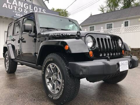 2013 Jeep Wrangler Unlimited for sale at Langlois Auto and Truck LLC in Kingston NH