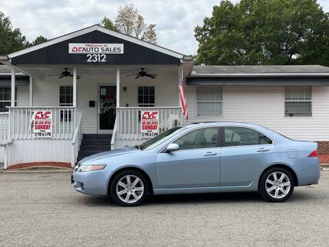 2004 Acura TSX for sale at CVC AUTO SALES in Durham NC