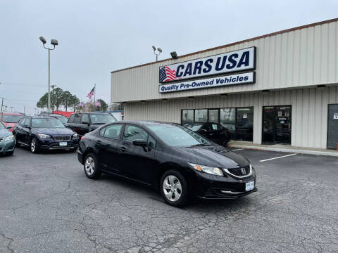 2014 Honda Civic for sale at Cars USA in Virginia Beach VA