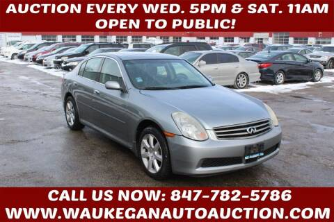 2006 Infiniti G35 for sale at Waukegan Auto Auction in Waukegan IL