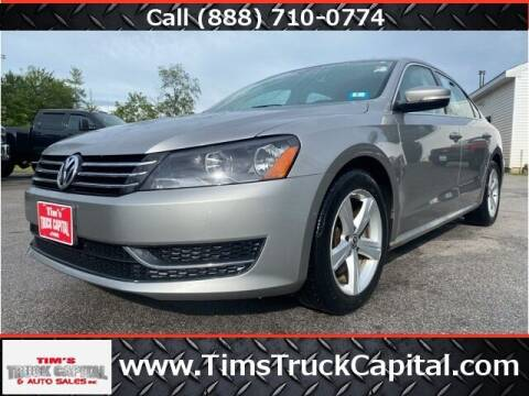 2013 Volkswagen Passat for sale at TTC AUTO OUTLET/TIM'S TRUCK CAPITAL & AUTO SALES INC ANNEX in Epsom NH