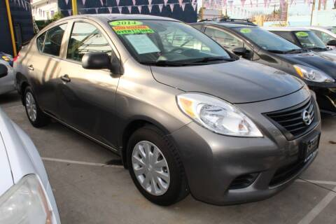 2014 Nissan Versa for sale at Good Vibes Auto Sales in North Hollywood CA