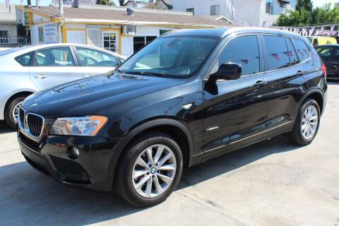 2013 BMW X3 for sale at FJ Auto Sales in North Hollywood CA