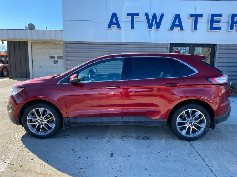 2016 Ford Edge for sale at Atwater Ford Inc in Atwater MN