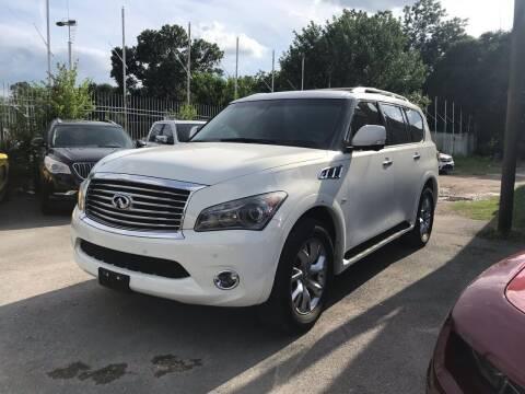 2014 Infiniti QX80 for sale at Texas Luxury Auto in Houston TX