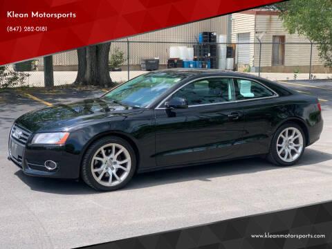 2011 Audi A5 for sale at Klean Motorsports in Skokie IL