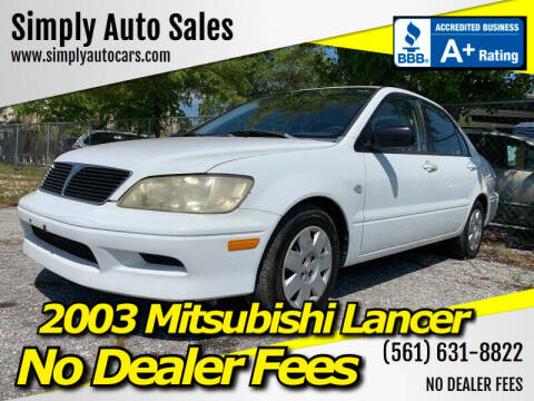 2003 Mitsubishi Lancer for sale at Simply Auto Sales in Palm Beach Gardens FL
