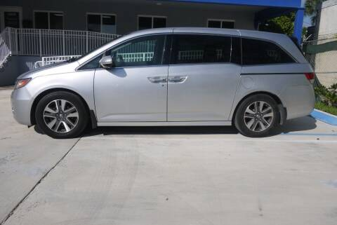 2014 Honda Odyssey for sale at PERFORMANCE AUTO WHOLESALERS in Miami FL