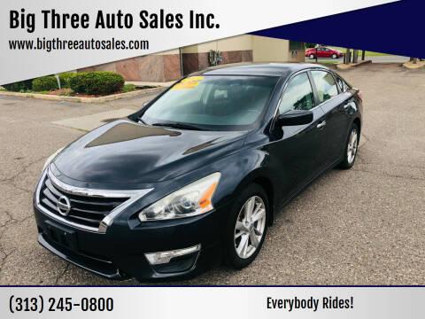 2013 Nissan Altima for sale at Big Three Auto Sales Inc. in Detroit MI