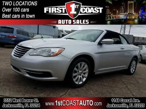 2012 Chrysler 200 Convertible for sale at 1st Coast Auto -Cassat Avenue in Jacksonville FL