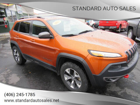 2015 Jeep Cherokee for sale at Standard Auto Sales in Billings MT
