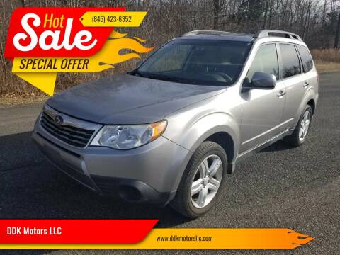 2009 Subaru Forester for sale at DDK Motors LLC in Rock Hill NY
