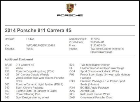 2014 Porsche 911 for sale at RAC Performance in Carrollton TX