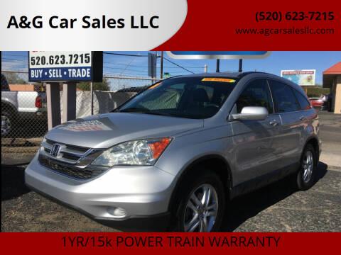2011 Honda CR-V for sale at A&G Car Sales  LLC in Tucson AZ