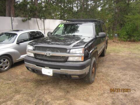 2003 Chevrolet Silverado 2500HD for sale at SUNNYBROOK USED CARS in Menahga MN