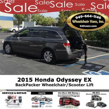 2015 Honda Odyssey for sale at Wheelchair Vans Inc - New and Used in Laguna Hills CA