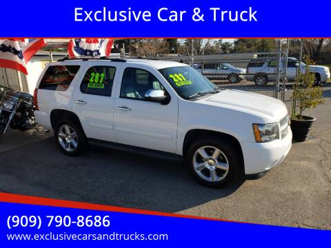 2013 Chevrolet Tahoe for sale at Exclusive Car & Truck in Yucaipa CA