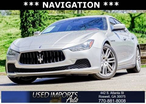 2016 Maserati Ghibli for sale at Used Imports Auto in Roswell GA
