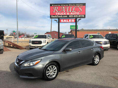 2016 Nissan Altima for sale at RAUL'S TRUCK & AUTO SALES, INC in Oklahoma City OK