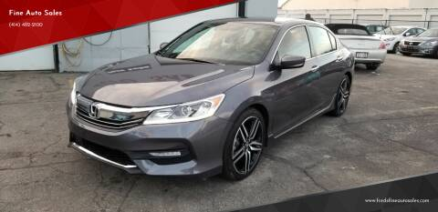 2017 Honda Accord for sale at Fine Auto Sales in Cudahy WI