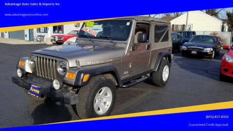2006 Jeep Wrangler for sale at Advantage Auto Sales & Imports Inc in Loves Park IL