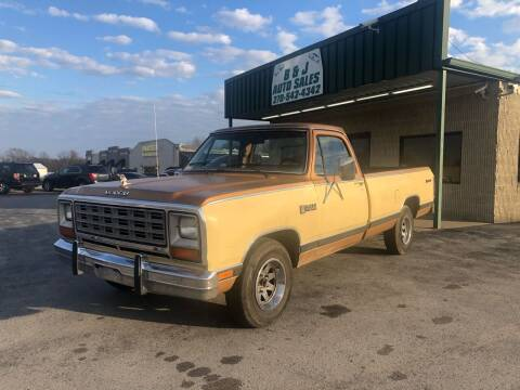 1985 Dodge RAM 150 for sale at B & J Auto Sales in Auburn KY