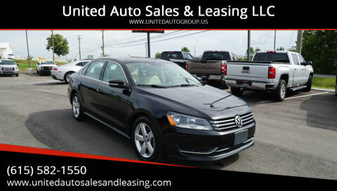 2013 Volkswagen Passat for sale at United Auto Sales & Leasing LLC in La Vergne TN