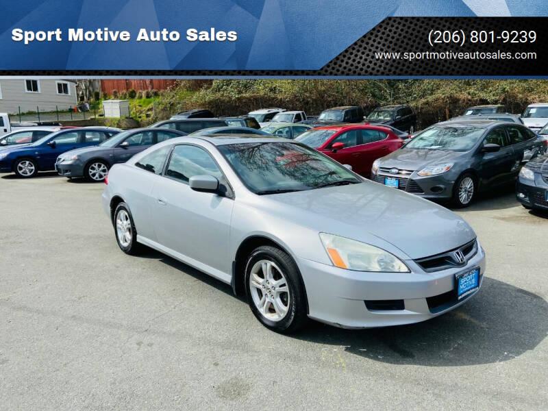 2006 Honda Accord for sale at Sport Motive Auto Sales in Seattle WA