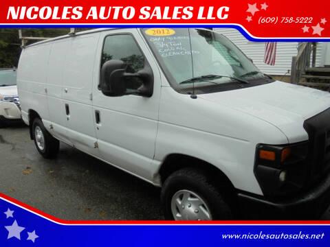 2012 Ford E-Series Cargo for sale at NICOLES AUTO SALES LLC in Cream Ridge NJ
