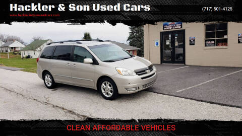 2005 Toyota Sienna for sale at Hackler & Son Used Cars in Red Lion PA