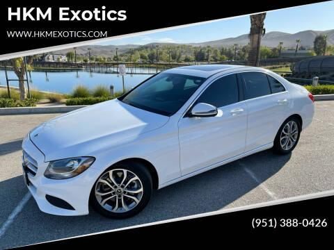 2018 Mercedes-Benz C-Class for sale at HKM Exotics in Corona CA