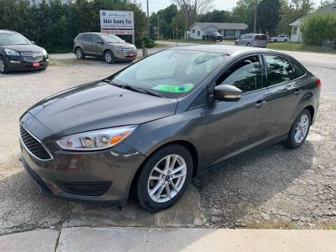 2015 Ford Focus for sale at GREENFIELD AUTO SALES in Greenfield IA