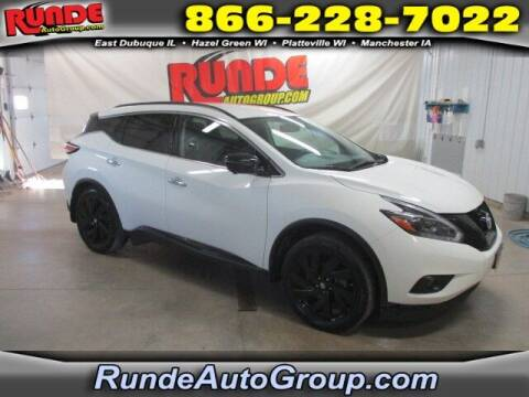 2018 Nissan Murano for sale at Runde Chevrolet in East Dubuque IL