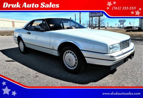 1988 Cadillac Allante for sale at Druk Auto Sales in Ramsey MN
