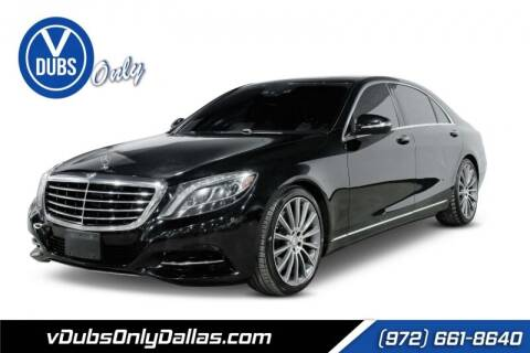 2015 Mercedes-Benz S-Class for sale at VDUBS ONLY in Dallas TX