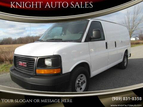 2012 GMC Savana Cargo for sale at KNIGHT AUTO SALES in Stanton MI