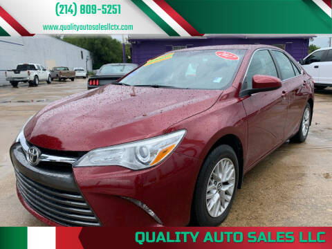 2017 Toyota Camry for sale at Quality Auto Sales LLC in Garland TX