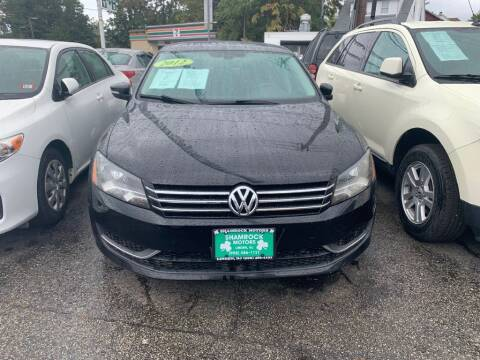 2012 Volkswagen Passat for sale at Park Avenue Auto Lot Inc in Linden NJ
