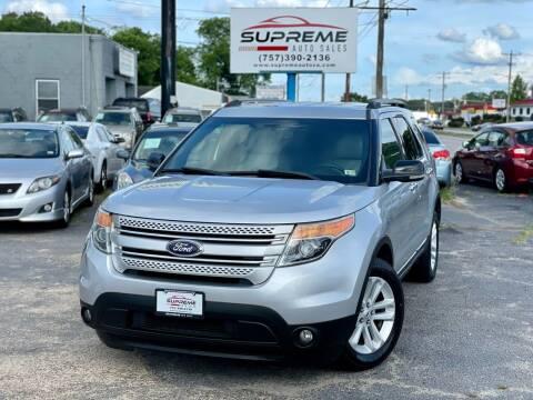 2012 Ford Explorer for sale at Supreme Auto Sales in Chesapeake VA