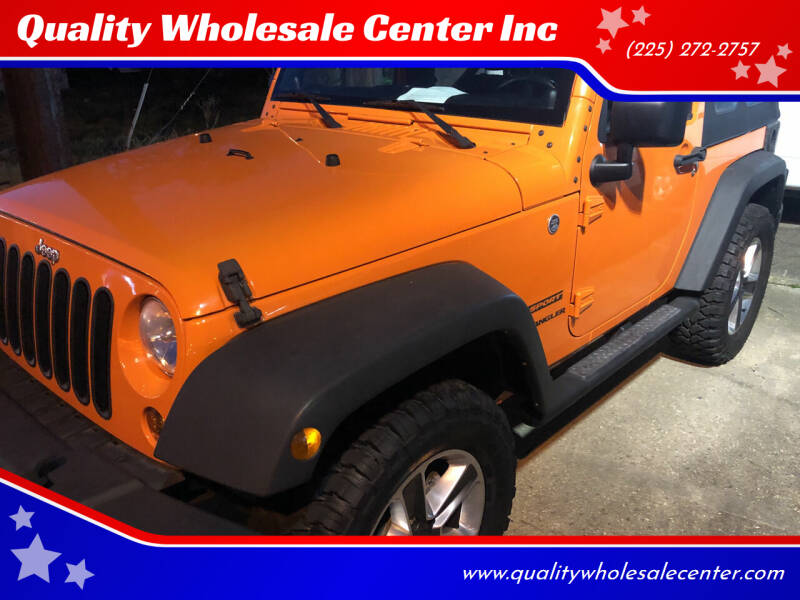 2012 Jeep Wrangler for sale at Quality Wholesale Center Inc in Baton Rouge LA
