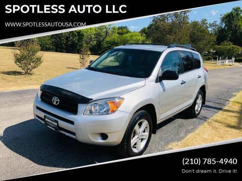 2008 Toyota RAV4 for sale at SPOTLESS AUTO LLC in San Antonio TX
