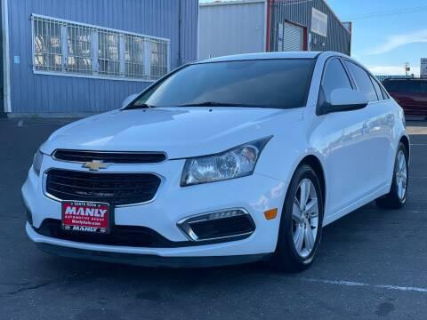 2015 Chevrolet Cruze for sale at California Auto Deals in Sacramento CA
