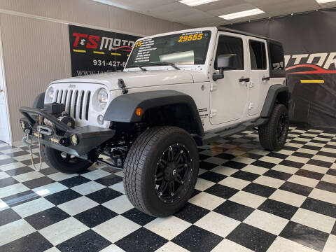 2015 Jeep Wrangler Unlimited for sale at T & S Motors in Ardmore TN