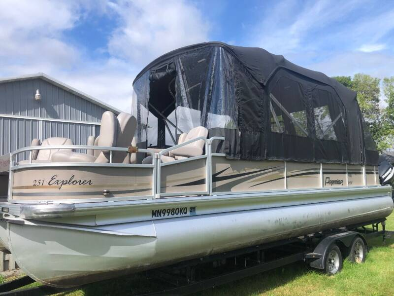 2011 Premier 251 Explorer Tritoon for sale at Triple R Sales in Lake City MN