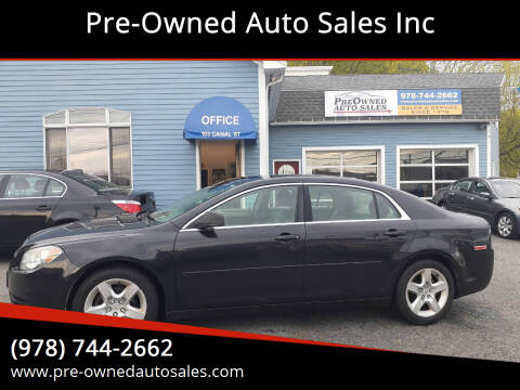 2010 Chevrolet Malibu for sale at Pre-Owned Auto Sales Inc in Salem MA