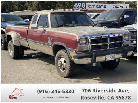 1992 Dodge RAM 350 for sale at OT CARS AUTO SALES in Roseville CA
