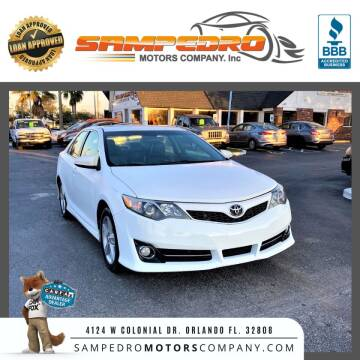 2012 Toyota Camry for sale at SAMPEDRO MOTORS COMPANY INC in Orlando FL