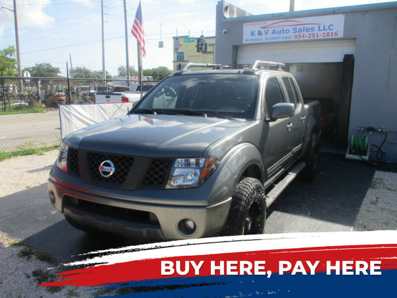 2006 Nissan Frontier for sale at K & V AUTO SALES LLC in Hollywood FL